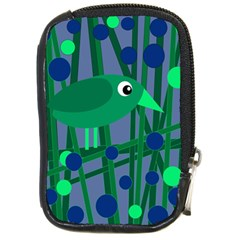 Green and blue bird Compact Camera Cases