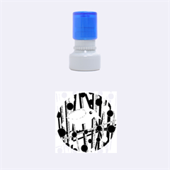 Green and blue bird Rubber Round Stamps (Small)