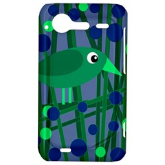 Green and blue bird HTC Incredible S Hardshell Case
