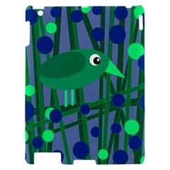 Green and blue bird Apple iPad 2 Hardshell Case