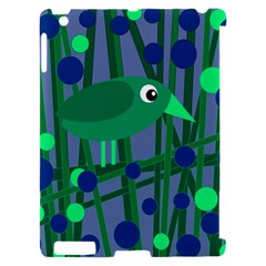Green and blue bird Apple iPad 2 Hardshell Case (Compatible with Smart Cover)