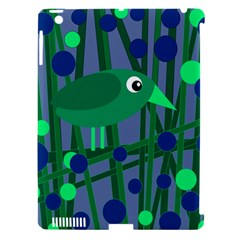 Green and blue bird Apple iPad 3/4 Hardshell Case (Compatible with Smart Cover)