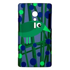 Green and blue bird Sony Xperia ion