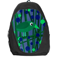 Green and blue bird Backpack Bag