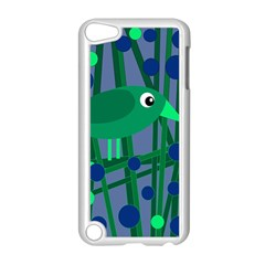Green and blue bird Apple iPod Touch 5 Case (White)
