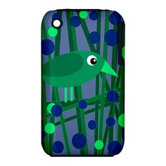 Green and blue bird Apple iPhone 3G/3GS Hardshell Case (PC+Silicone)