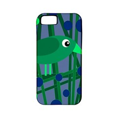 Green and blue bird Apple iPhone 5 Classic Hardshell Case (PC+Silicone)