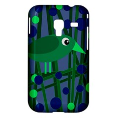 Green and blue bird Samsung Galaxy Ace Plus S7500 Hardshell Case