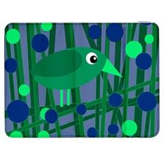 Green and blue bird Samsung Galaxy Tab 7  P1000 Flip Case