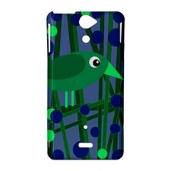 Green and blue bird Sony Xperia V