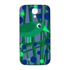 Green and blue bird Samsung Galaxy S4 I9500/I9505  Hardshell Back Case
