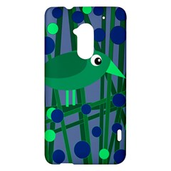 Green and blue bird HTC One Max (T6) Hardshell Case