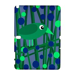Green and blue bird Samsung Galaxy Note 10.1 (P600) Hardshell Case