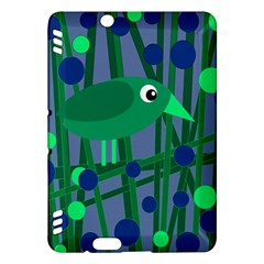 Green and blue bird Kindle Fire HDX Hardshell Case