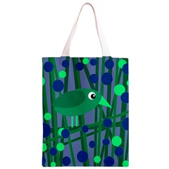Green and blue bird Classic Light Tote Bag