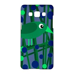 Green and blue bird Samsung Galaxy A5 Hardshell Case