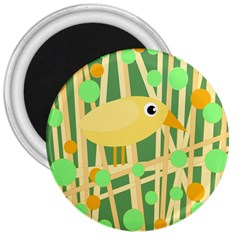 Yellow little bird 3  Magnets