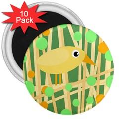 Yellow little bird 3  Magnets (10 pack)