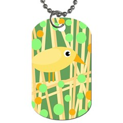 Yellow little bird Dog Tag (One Side)