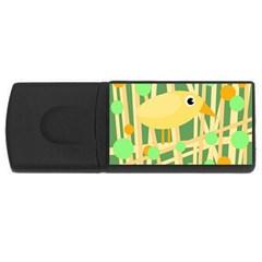 Yellow little bird USB Flash Drive Rectangular (1 GB)