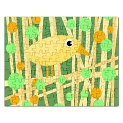 Yellow little bird Rectangular Jigsaw Puzzl