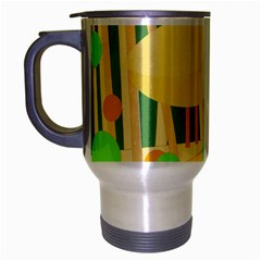 Yellow little bird Travel Mug (Silver Gray)