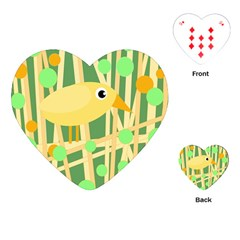 Yellow little bird Playing Cards (Heart)