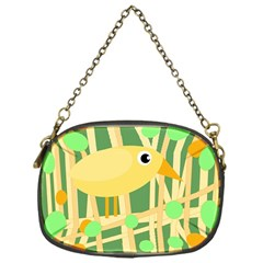Yellow little bird Chain Purses (One Side)
