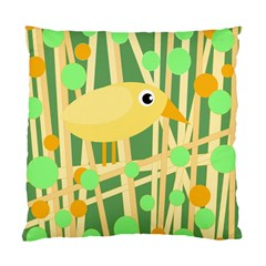 Yellow little bird Standard Cushion Case (Two Sides)
