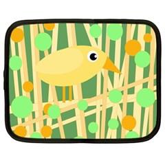 Yellow little bird Netbook Case (XL)