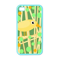 Yellow little bird Apple iPhone 4 Case (Color)