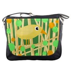 Yellow little bird Messenger Bags