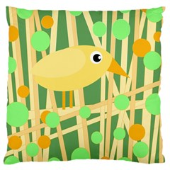 Yellow little bird Large Cushion Case (Two Sides)