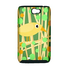 Yellow little bird Samsung Galaxy Note 2 Hardshell Case (PC+Silicone)
