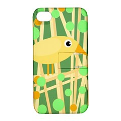 Yellow little bird Apple iPhone 4/4S Hardshell Case with Stand