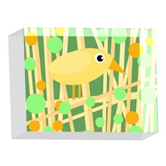 Yellow little bird 5 x 7  Acrylic Photo Blocks