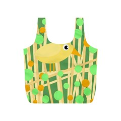 Yellow little bird Full Print Recycle Bags (S)