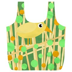Yellow little bird Full Print Recycle Bags (L)