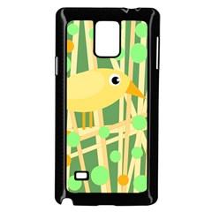 Yellow Little Bird Samsung Galaxy Note 4 Case (black)