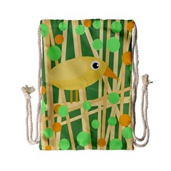 Yellow little bird Drawstring Bag (Small)