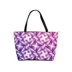 Purple Shatter Geometric Pattern Shoulder Handbags