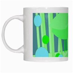 Green bird White Mugs