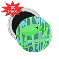 Green bird 2.25  Magnets (100 pack)
