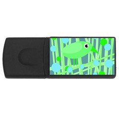 Green bird USB Flash Drive Rectangular (1 GB)