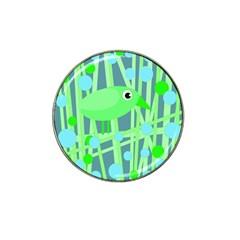Green bird Hat Clip Ball Marker