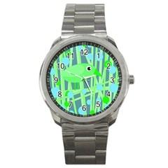 Green bird Sport Metal Watch