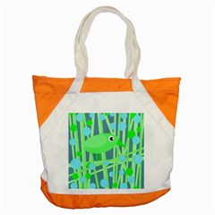 Green bird Accent Tote Bag