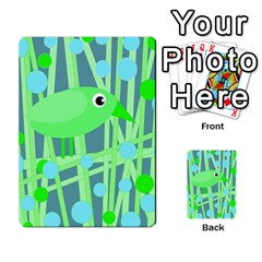 Green bird Multi-purpose Cards (Rectangle)