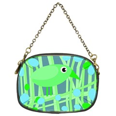 Green bird Chain Purses (Two Sides)