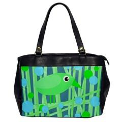 Green bird Office Handbags